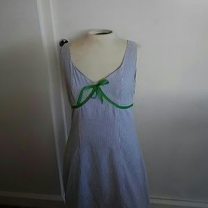 Cute Light Blue/White cotton summer dress.
